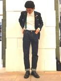 Akira Sakaguchi さんの「<BRETELLE&BRACES (ブレテッレ&ブレーシス)> サスペンダー(UNITED ARROWS|ユナイテッドアローズ)」を使ったコーディネート