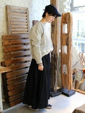 journal standard luxe 渋谷店|A.Kさんのスカート「TCサテンビンテージ イージーギャザースカート◆(JOURNAL STANDARD LUXE|ジャーナルスタンダード ラックス)」を使ったコーディネート