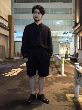 ADAM ET ROPE' ルミネ新宿2|こいでさんの「リネンバンドカラーシャツ(ADAM ET ROPE')」を使ったコーディネート