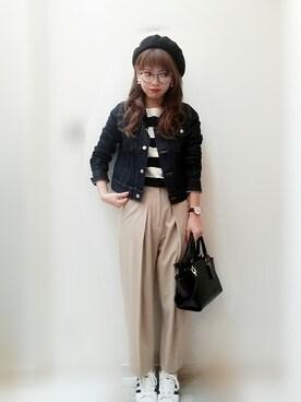maamin♡さんの「タックデザインワイドパンツ◆(SLOBE IENA|スローブイエナ)」を使ったコーディネート