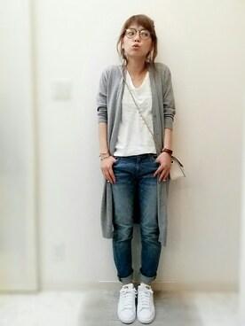 maamin♡さんの「LE DENIM スリムデニムパンツ◆(SLOBE IENA|スローブイエナ)」を使ったコーディネート