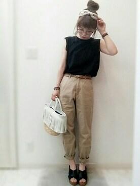 maamin♡さんの「アソートプリントスカーフ 720962(LOWRYS FARM ローリーズ ファーム)」を使ったコーディネート