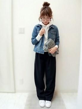 maamin♡さんの「タックトラウザース(TODAYFUL)」を使ったコーディネート