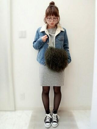 maamin♡さんの「ファーチェーンバッグ(TODAYFUL|トゥデイフル)」を使ったコーディネート
