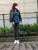 Akikoさんの「DENIMスキニーパンツ/555265(JEANASIS|ジーナシス)」を使ったコーディネート