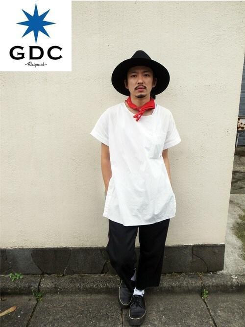 GDCTOKYO-MAH-bow-さんの「WIDE FELT HAT(GDC)」を使ったコーディネート