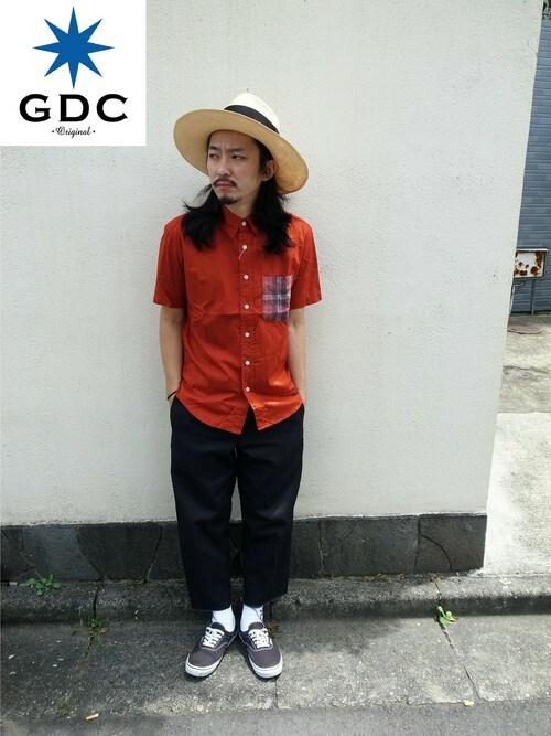 GDCTOKYO-MAH-bow-さんの「WIDE PANAMA HAT(GDC)」を使ったコーディネート