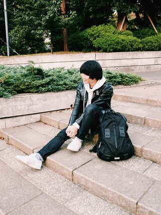 「HORSE LEATHER RIDERS JK(sofar)」 using this BRITISH MADE オンラインショップ|TomokiMatsui looks
