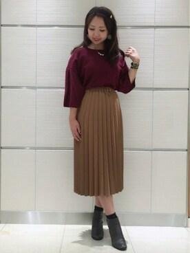 ROPE' PICNIC アトレ川崎|Eriさんの「プリーツロングスカート(ROPE' PICNIC)」を使ったコーディネート