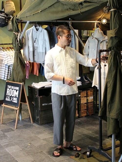 JOURNAL STANDARD 渋谷店田口 馨さんのシャツ/ブラウス「【WEB限定】リネンレギュラー7S#(JOURNAL STANDARD|ジャーナルスタンダード)」を使ったコーディネート