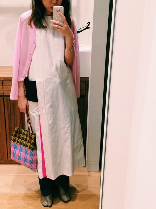 「Toga Color-Block Shell Midi Dress(Toga)」 using this marimo looks
