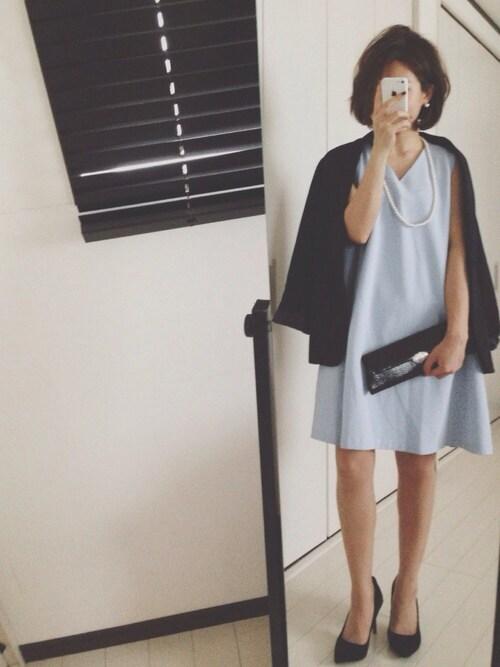 結婚式 服装 ブルー