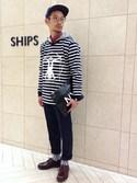 SHIPS �����X�b�ɓ�����̃L���b�v�uHombre Nino × SHIPS JET BLUE: �}�[�N�L���b�v�y�ʒ��J�v�Z���R���N�V�����z�iSHIPS JET BLUE�b�V�b�v�X�W�F�b�g�u���[�j�v���g�����R�[�f�B�l�[�g