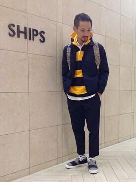 SHIPS 福岡店|伊藤さんの「VAINL ARCHIVE × Dickies(ディッキーズ) × SHIPS JET BLUE: ワークジャケット(SHIPS JET BLUE)」を使ったコーディネート