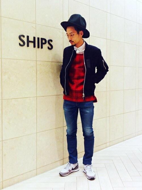 伊藤さんの「SHIPS JET BLUE(シップス ジェットブルー): クレイジーパターン/ボタンダウンシャツ(SHIPS JET BLUE)」を使ったコーディネート