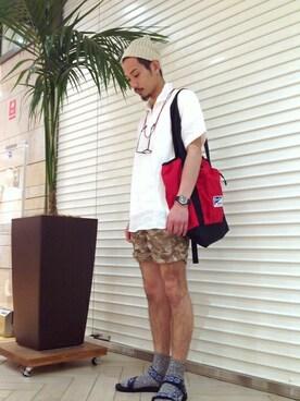SHIPS 福岡店|伊藤さんの「SC: SHIPS(シップス) リネン ソリッド カプリシャツ ショートスリーブ(SHIPS)」を使ったコーディネート
