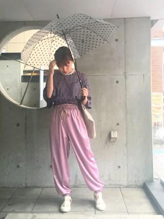 吉河唯さんの「手編みのギザギザネックレス(RED Profile|レッドプロフィール)」を使ったコーディネート