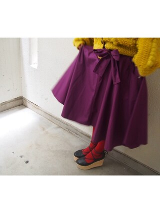 吉河唯さんの「ショートニットジャケット(merry jenny|メリージェニー)」を使ったコーディネート