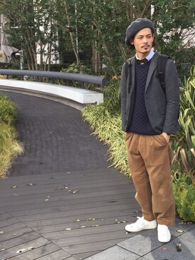 masachikaさんの「【雑誌Domani10月号掲載】【override】 Combi CHOPI Beret/オーバーライド コンビチョピベレー(override)」を使ったコーディネート