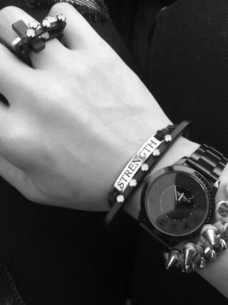 RONIさんの「Coal bracelet(CHEAP MONDAY チープマンデー)」を使ったコーディネート