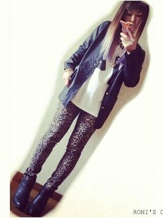 RONIさんの「BLESS TOKYO/フェイクレザーボーイズノーカラージャケット(BLESS TOKYO|ブレストウキョウ)」を使ったコーディネート