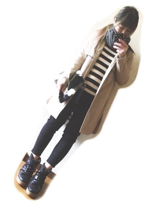 RONIさんの「DONOBAN/イザベルマラン風スニーカーブーツ(DONOBAN)」を使ったコーディネート