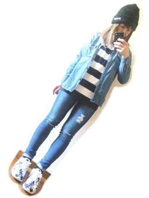 RONIさんの「AG/Ankle Legging Jeans(AG)」を使ったコーディネート