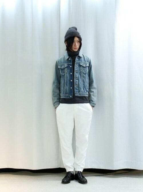 victim takiguchi 店舗スタッフ victimのデニムジャケットを使った