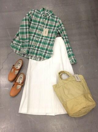 casaguccaさんの「グリーンチェックシャツ(YAECA|ヤエカ)」を使ったコーディネート