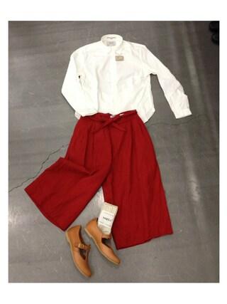 casaguccaさんの「コンフォートワイドシャツ(YAECA ヤエカ)」を使ったコーディネート