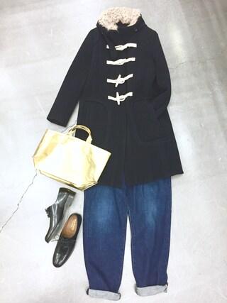 casaguccaさんの「ダッフルコート(muller of yoshiokubo|ミュラー オブ ヨシオクボ)」を使ったコーディネート