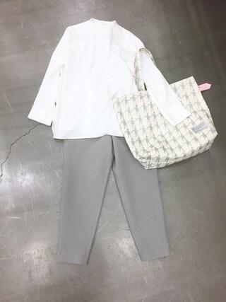 casaguccaさんの「STAND COLLAR SHIRT(muller of yoshiokubo|ミュラー オブ ヨシオクボ)」を使ったコーディネート