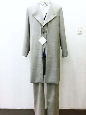 casaguccaさんの「ノーカラーコート(ETHOSENS|エトセンス)」を使ったコーディネート