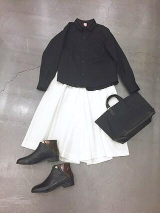casaguccaさんの「SIDE BUCKLE PANTS(muller of yoshiokubo|ミュラー オブ ヨシオクボ)」を使ったコーディネート