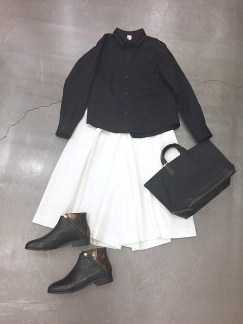casaguccaさんの「SIDE BUCKLE PANTS(muller of yoshiokubo)」を使ったコーディネート
