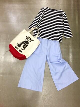 casaguccaさんの「バスクシャツ(YAECA|ヤエカ)」を使ったコーディネート