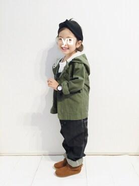 yuuunaさんの(SHIPS KIDS|シップスキッズ)を使ったコーディネート