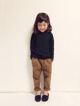 yuuunaさんの「タートルネックテレコ長袖Tシャツ(b-room)」を使ったコーディネート