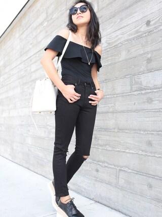 「STELLA MCCARTNEY Elyse lace-up platform shoes(Stella McCartney)」 using this Sheree looks