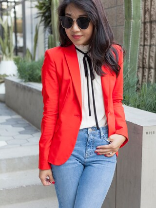 「Topshop Fringe Hem High Rise Jeans(Topshop)」 using this Sheree looks