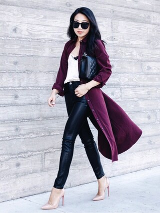 「BLANK NYC Blank NYC Leather Look Skinny Pants(Blank NYC)」 using this Sheree looks