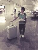 「Rimowa Topas Multiwheel 78cm Suitcase(Rimowa)」 using this Elly KO looks