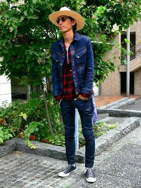 「vintage bandana(VINTAGE)」 using this RYOTA MIYOSHI looks