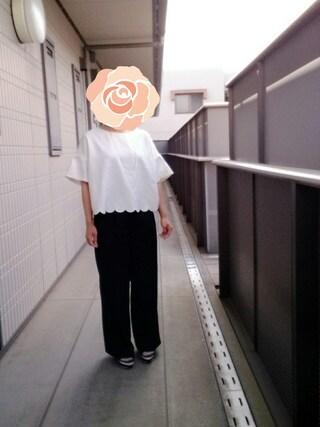 *やまにし*さんの「【田中里奈×mysty woman】コラボサンダル(mysty woman|ミスティウーマン)」を使ったコーディネート