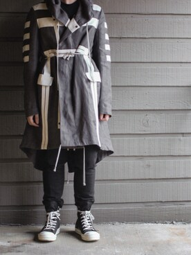 (Rick Owens) using this 小さい大根 looks
