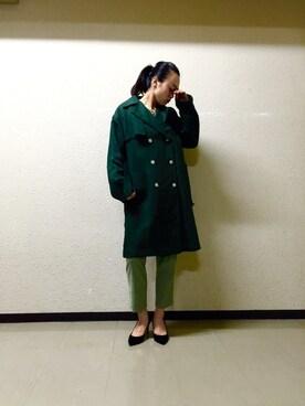 ADAM ET ROPE' LUMINE有楽町|moeka shimizuさんの(Traditional Weatherwear|トラディショナルウェザーウェア)を使ったコーディネート