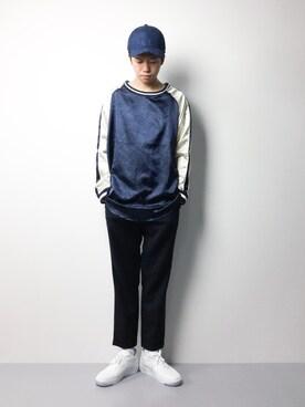 ZOZOTOWN|まっこいさんの「オーバーサイズスカシャツカットソー(unrelaxing)」を使ったコーディネート