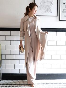 MODEL REMI SAKAMOTOさんの「テロンチコート(DRESS LAB)」を使ったコーディネート