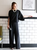 REMI SAKAMOTOさんの「\平子理沙さん着用/大人上品セットアップワイドパンツ【結婚式・お呼ばれ対応】(DRESS LAB ドレスラボ)」を使ったコーディネート