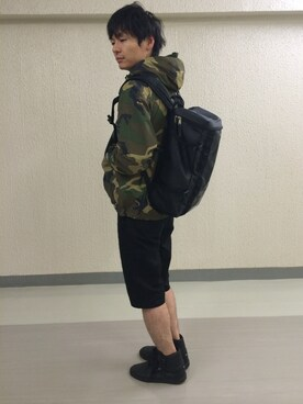 yujint│atmos/atmos girlsのナイロンジャケットコーディネート
